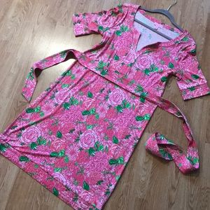 Lilly Pulitzer Pink Floral Rose Dress
